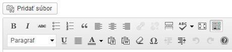 WordPress Tiny MCE editor rozšírenie