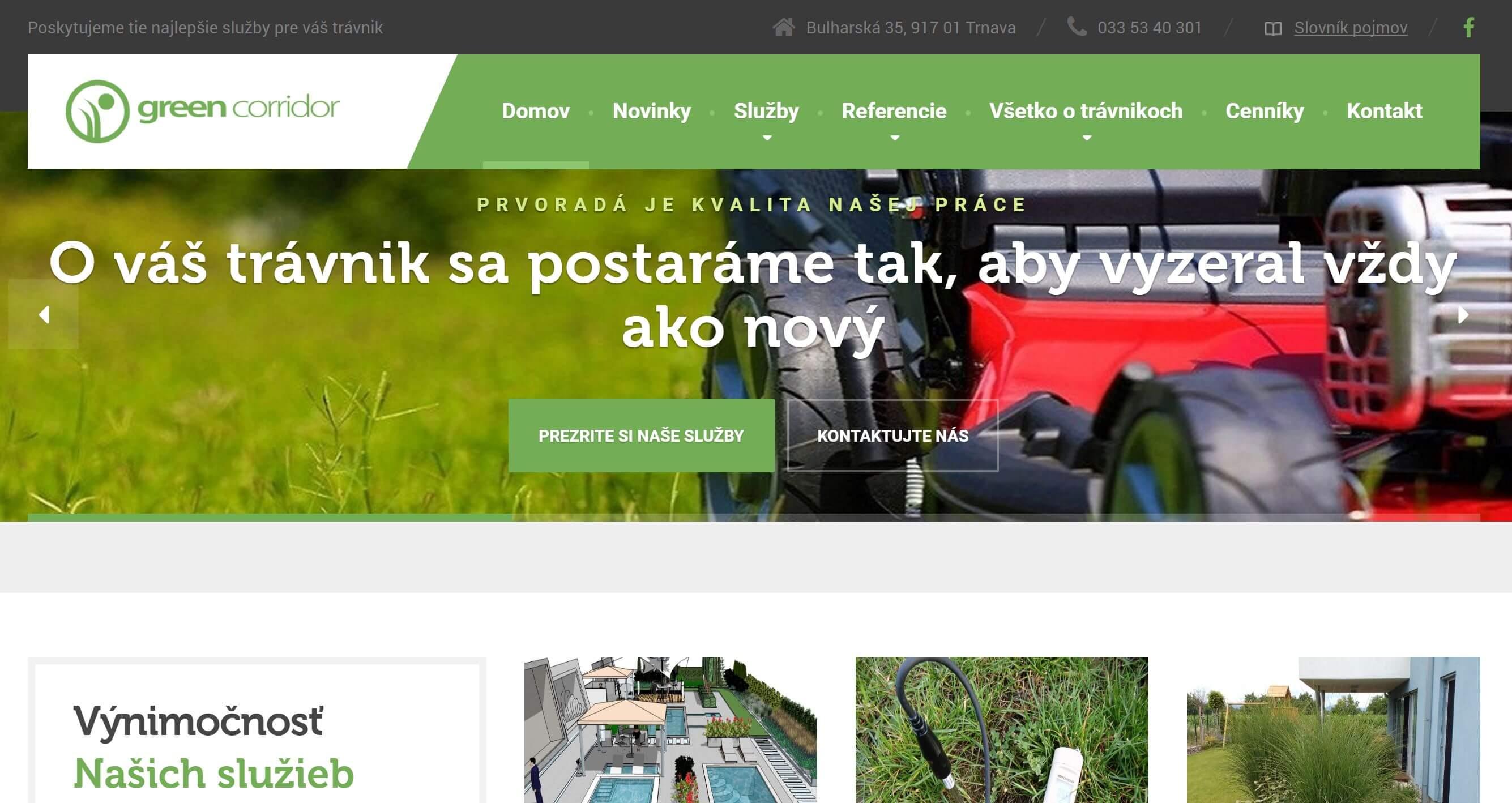 Webstránka greencorridor