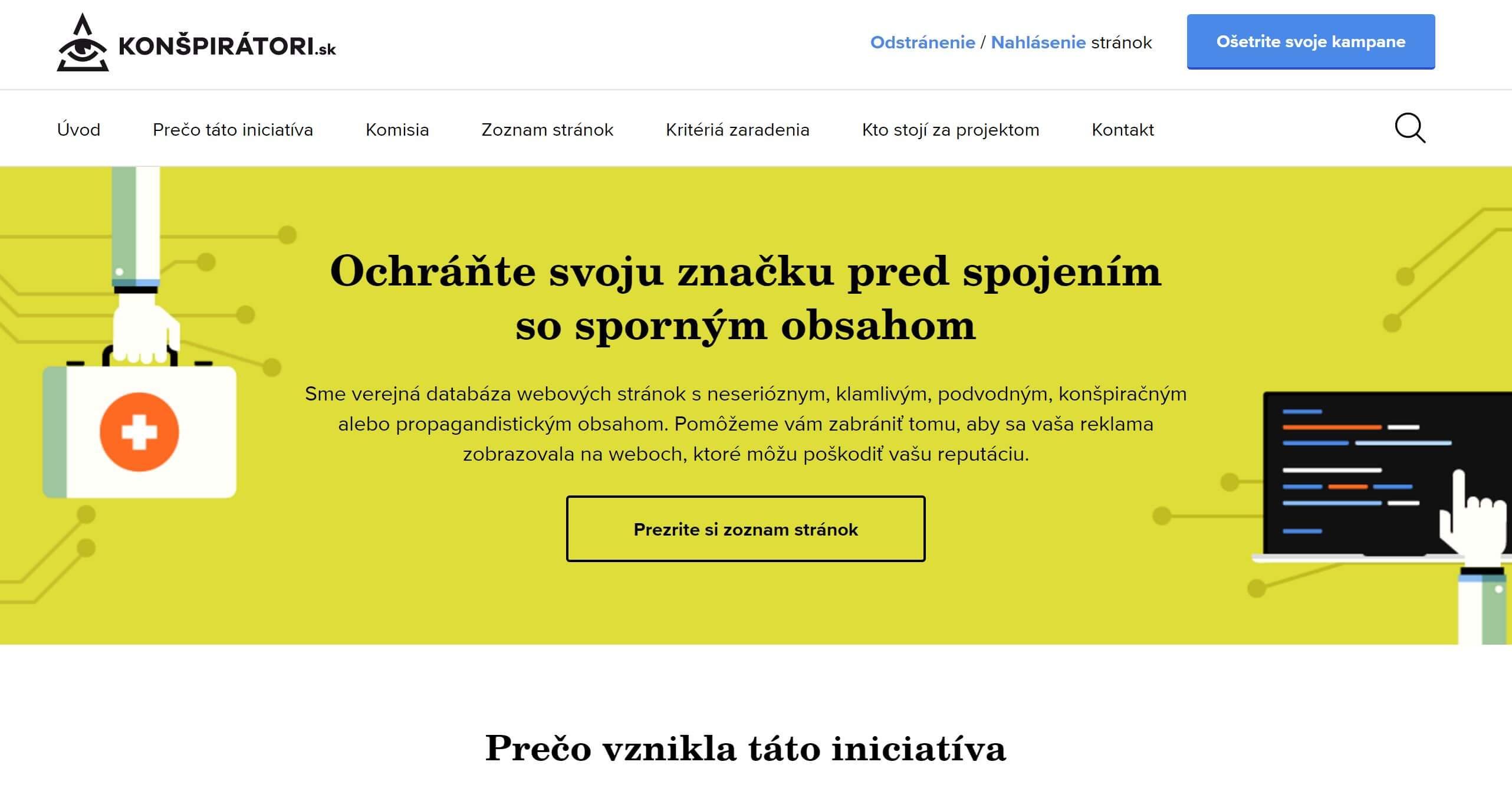 Webstránka konšpirátori