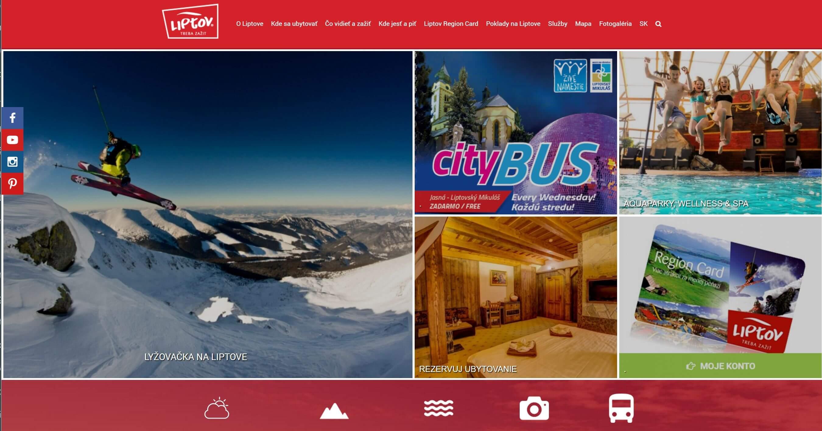 Webstránka Visitliptov