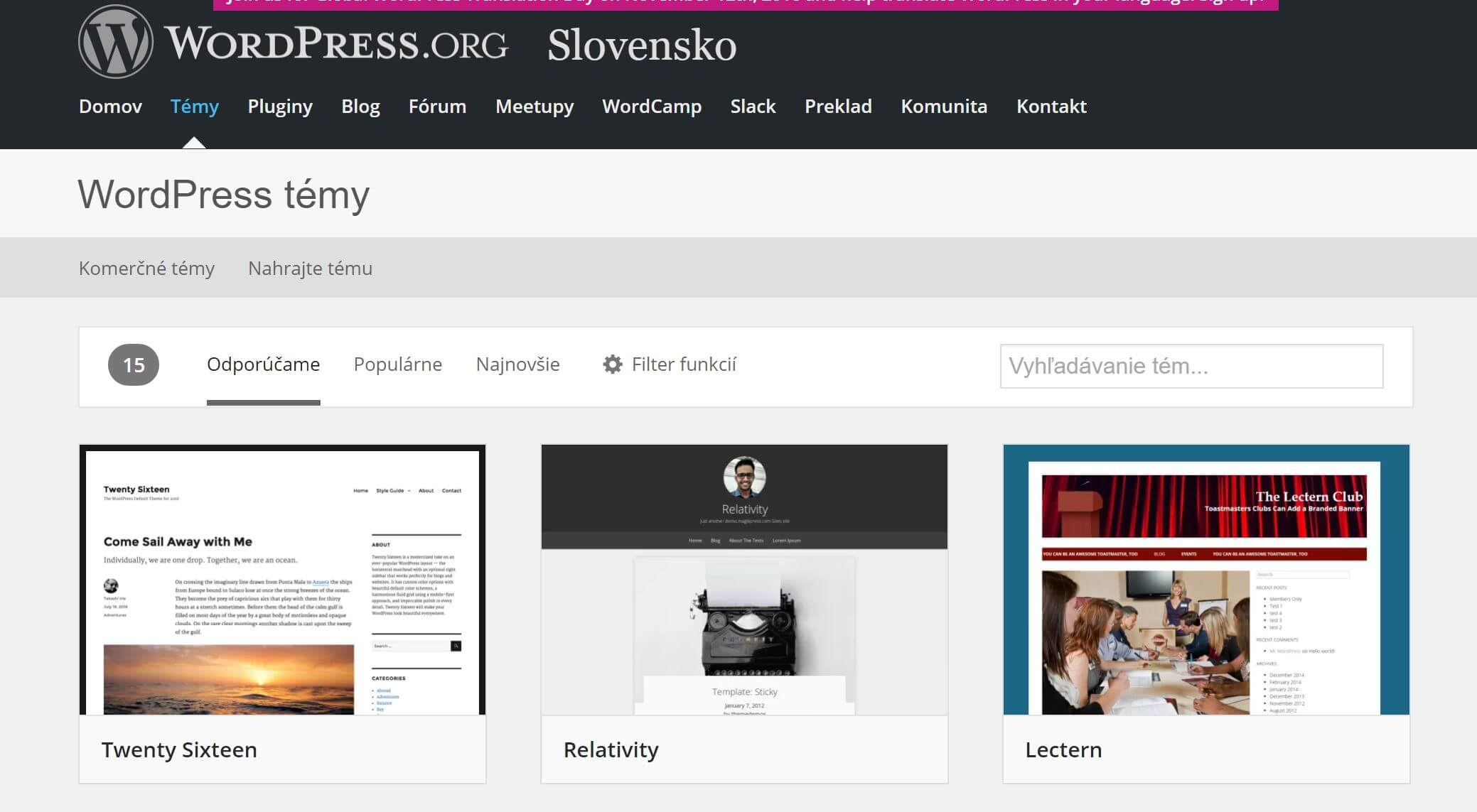 Témy z wordpress.org