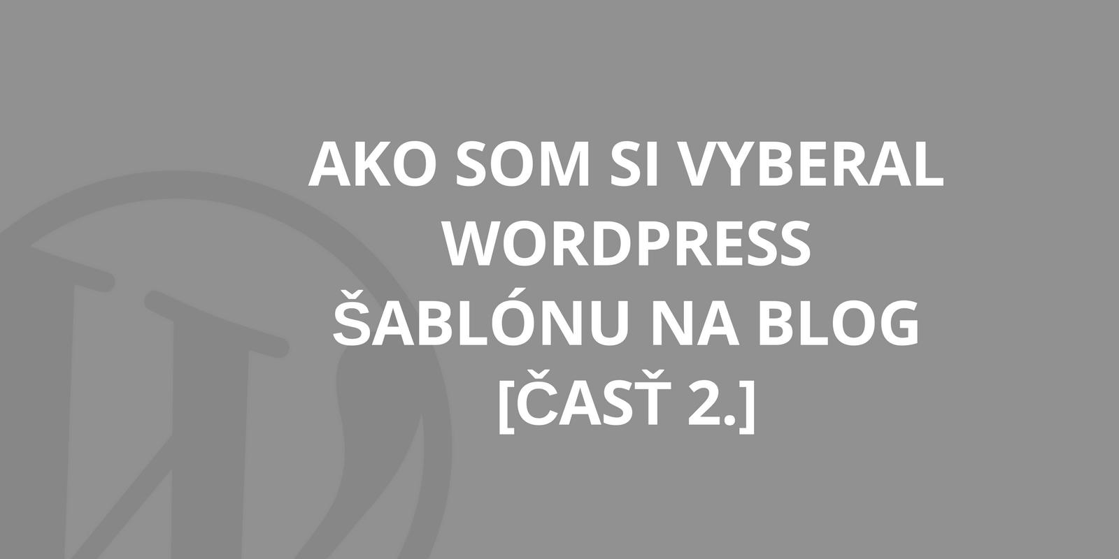 wordpress sablona blog 2