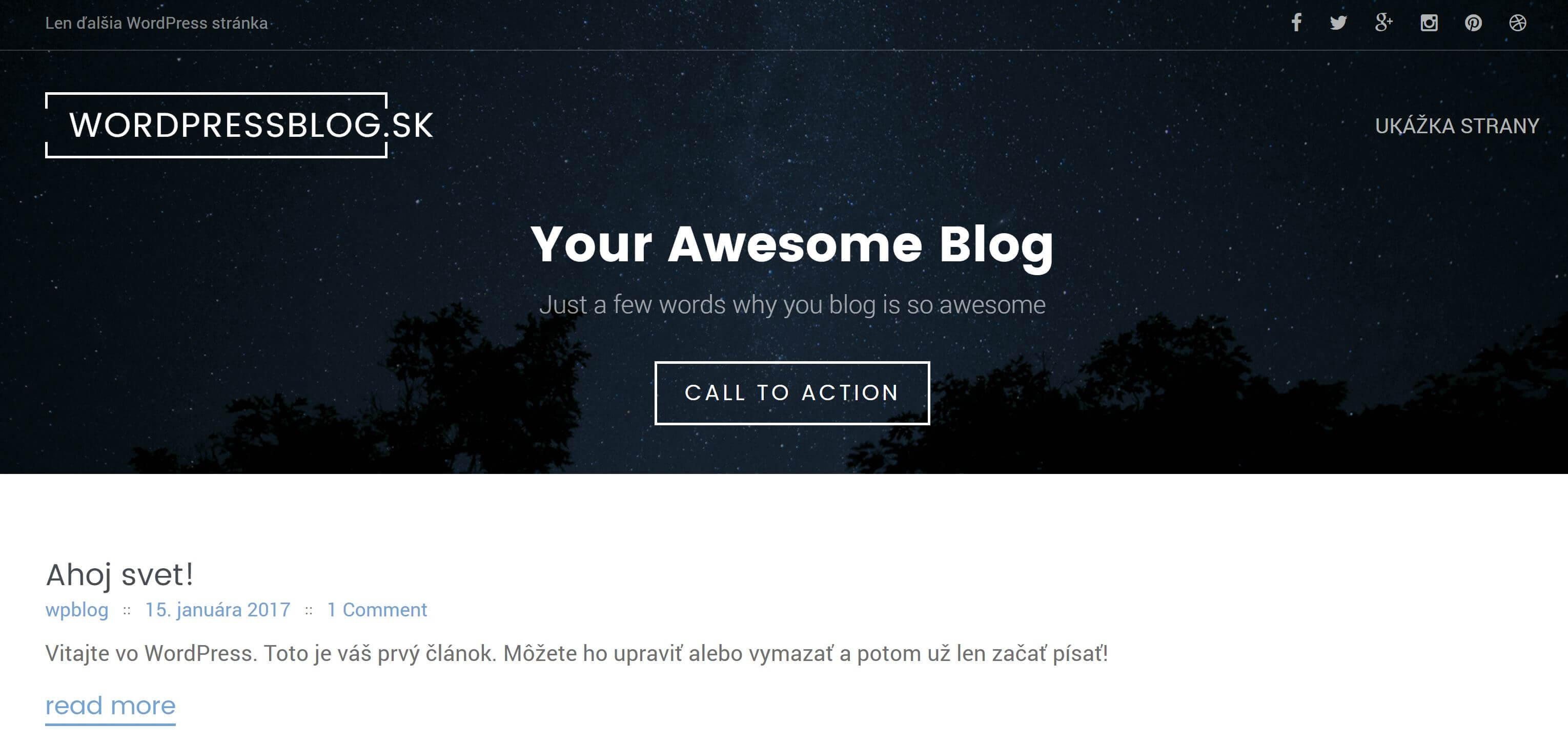 ako vytvoriť web stránku - WordPress