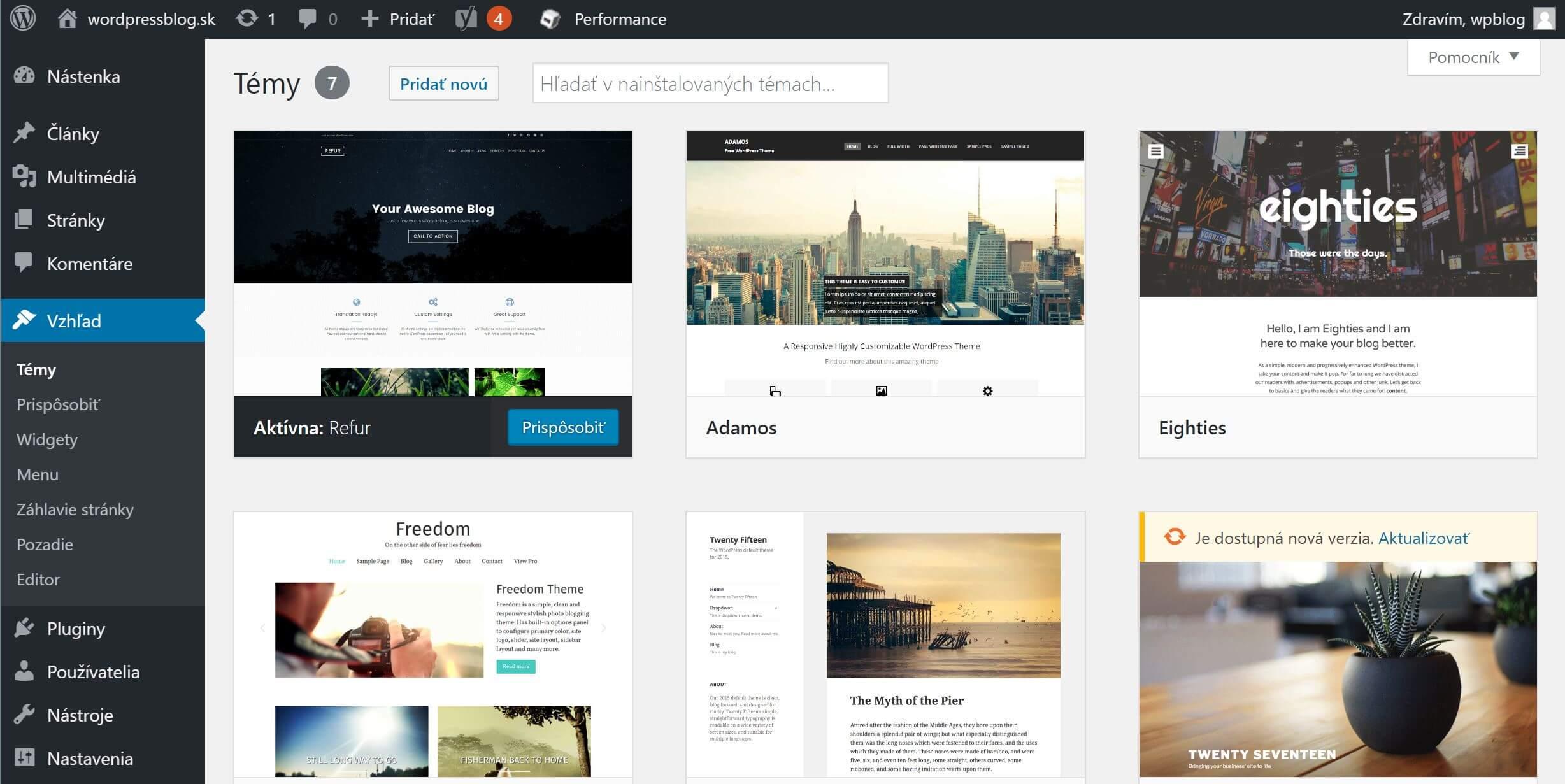 WordPress témy