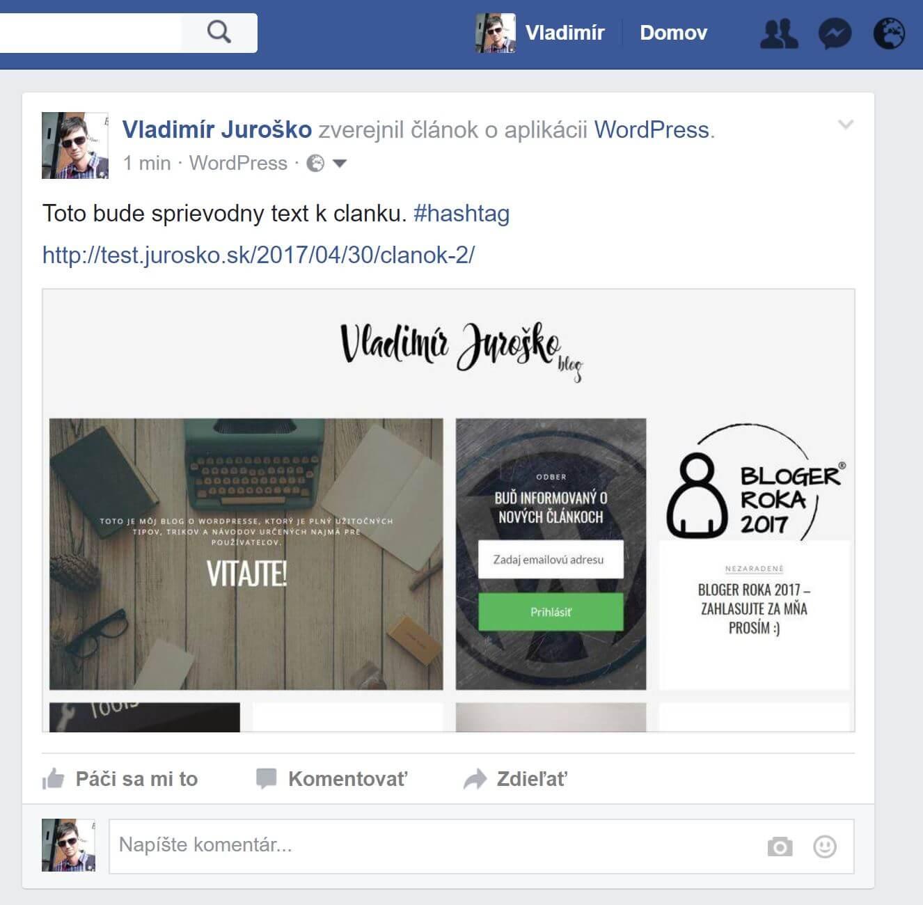 facebook zdielany clanok
