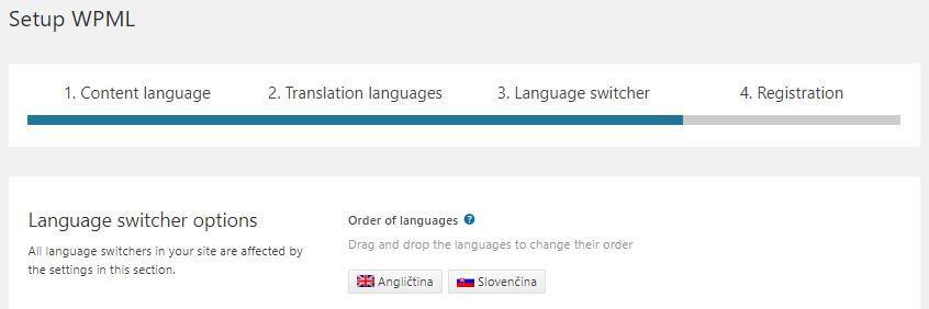 WPML poradie jazykov