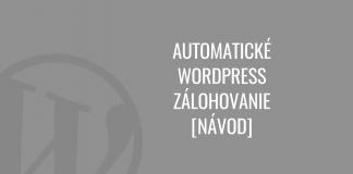 WordPress zálohovanie