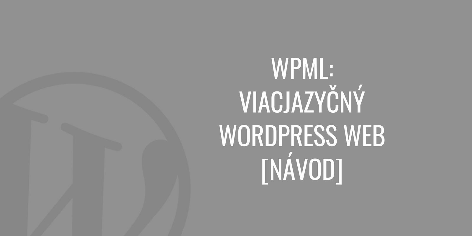 WPML viacjazyčný WordPress