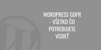 WordPress GDPR návod