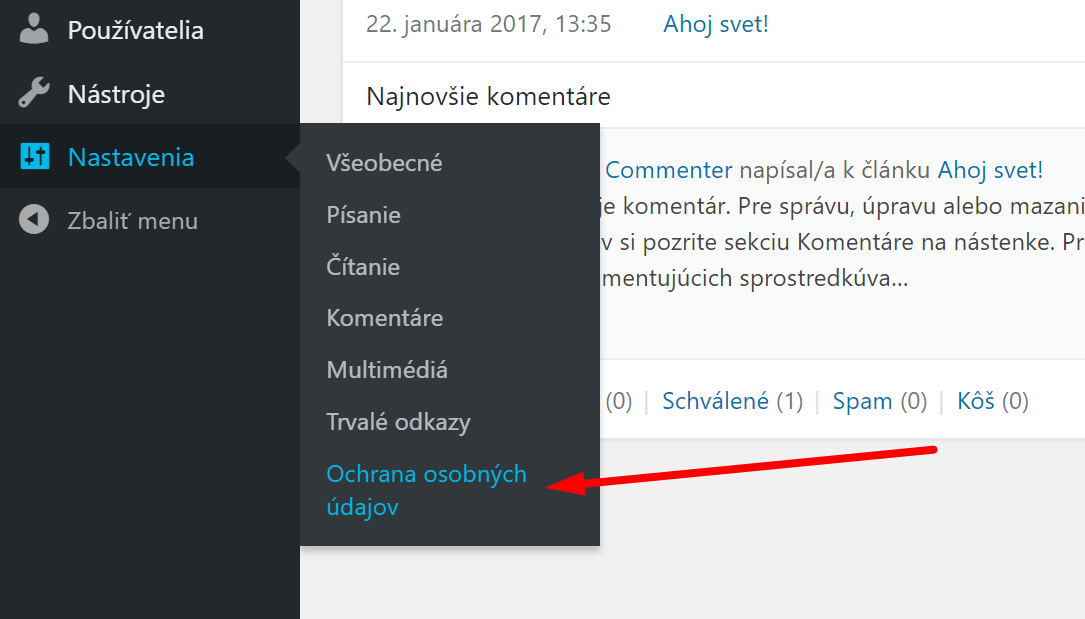 wordpress gdpr návod