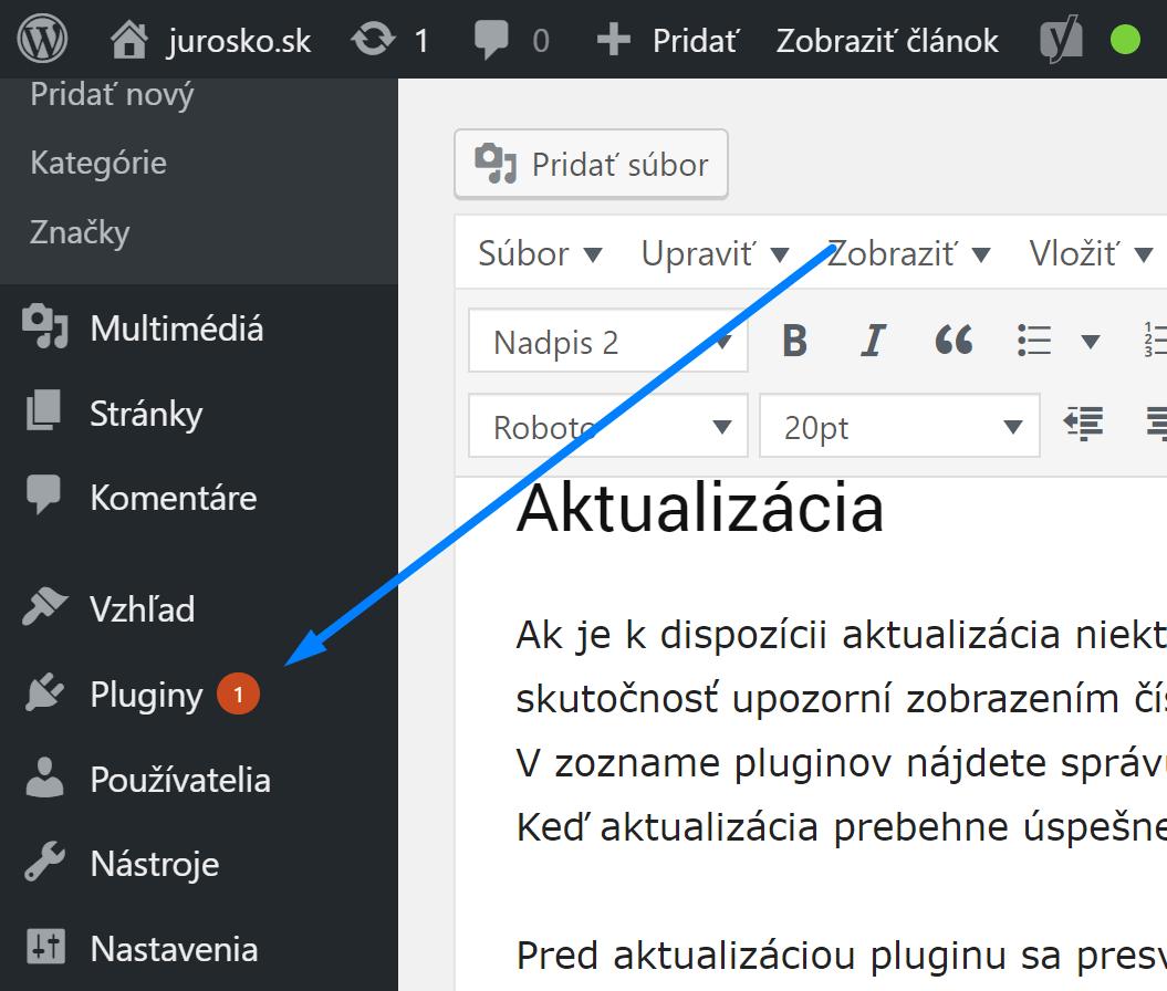 Neaktuálne WordPress pluginy