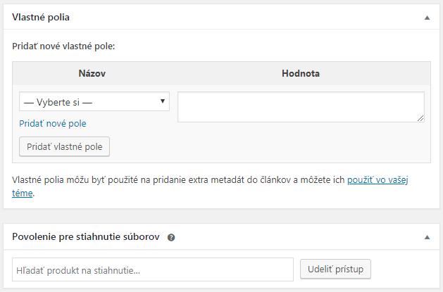 WooCommerce povolenia stiahnutia súborov