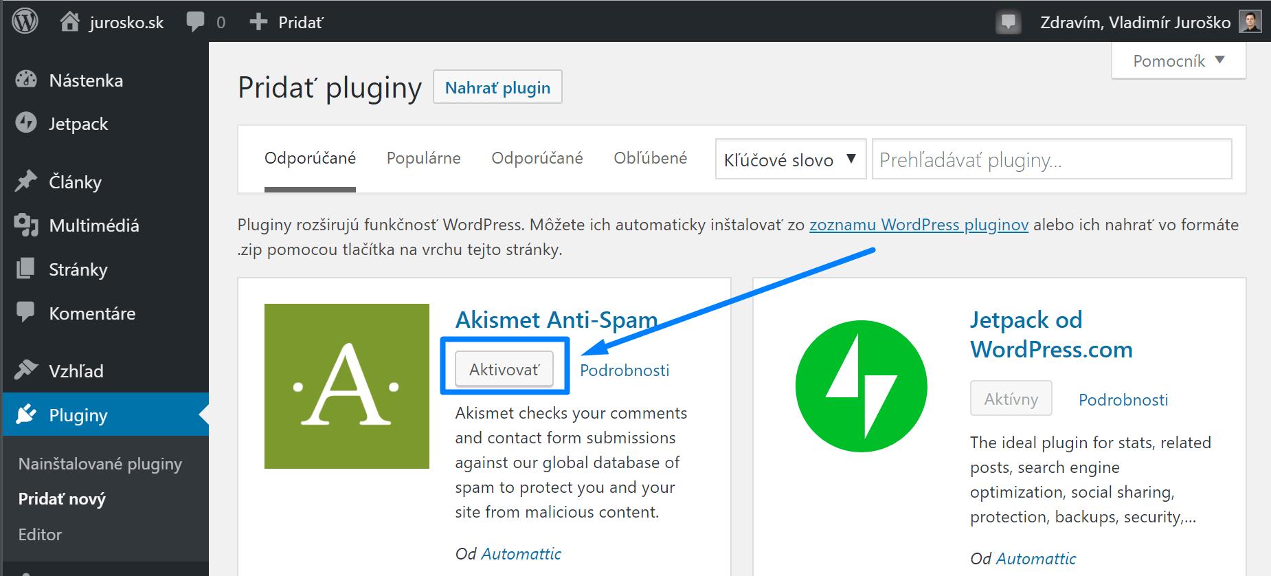 WordPress: ako aktivovať plugin