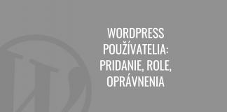 WordPress používatelia