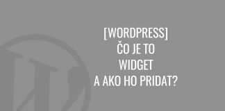 WordPress widgety