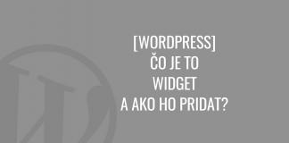 WordPress widgety