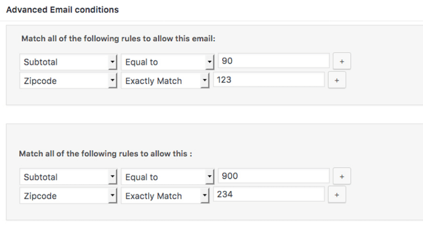 SIP Advanced Email Rules for WooCommerce