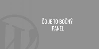 Čo je to bočný panel