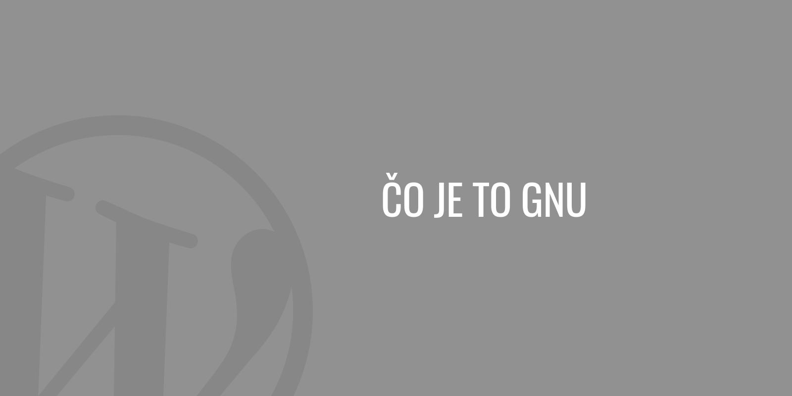 Čo je to GNU