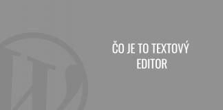 Čo je to textový editor