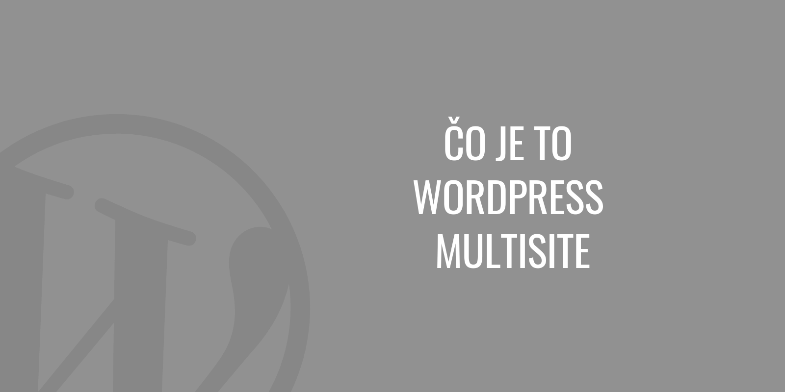 Čo je to WordPress multisite