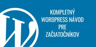 WordPress návod pre začiatočníkov