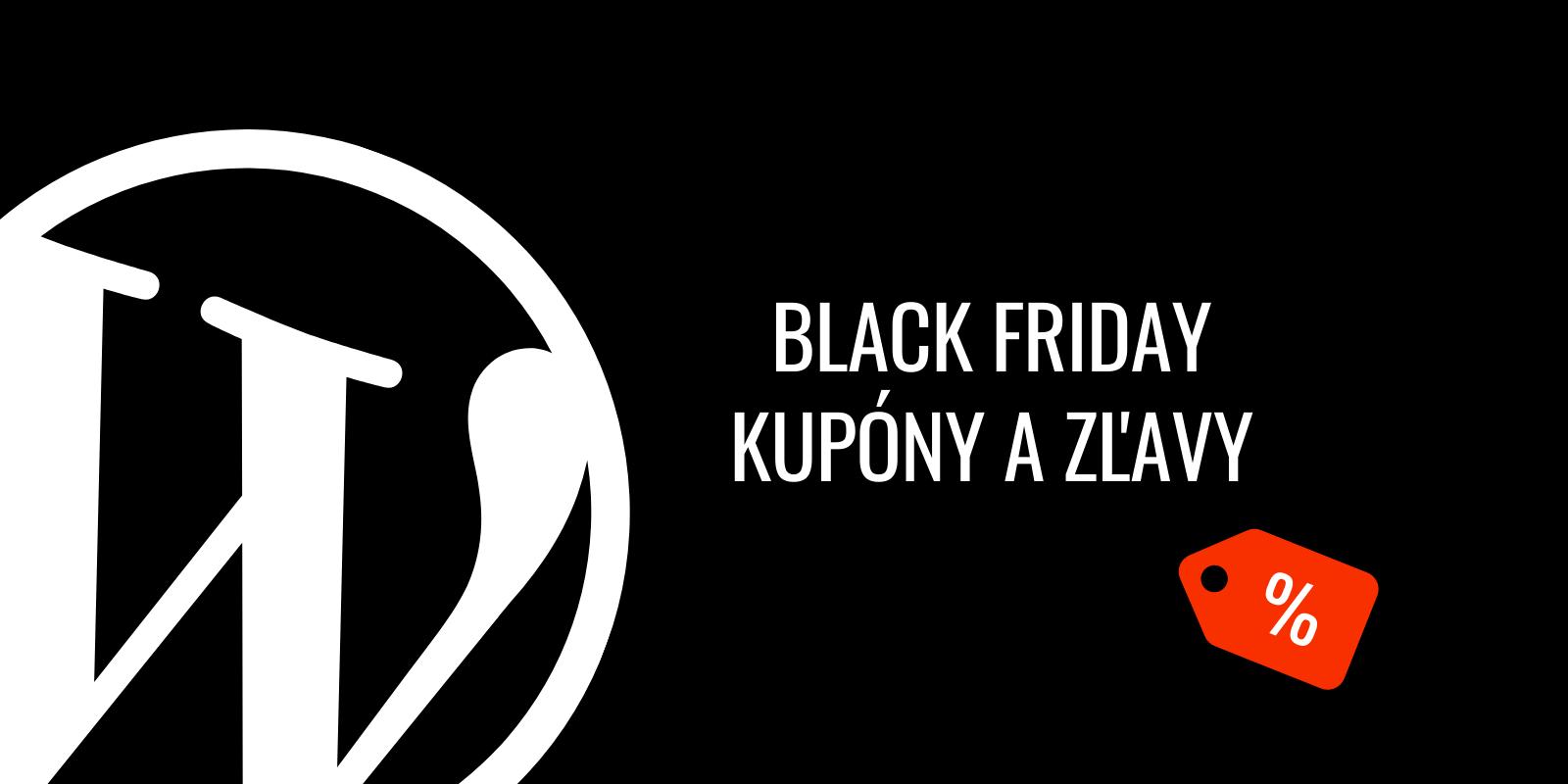 Black Friday 2019: kupóny a zľavy vo WordPress