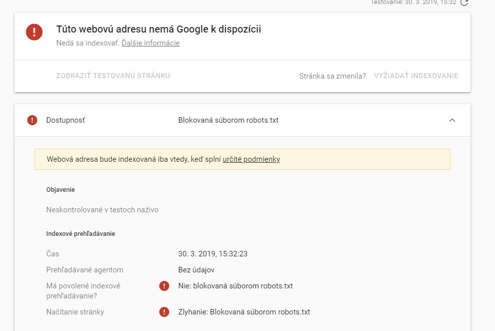 Blokovanie robots.txt