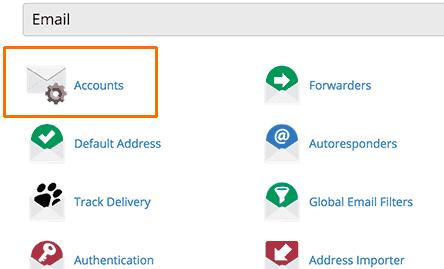 cPanel Vytvorenie e-mailového účtu