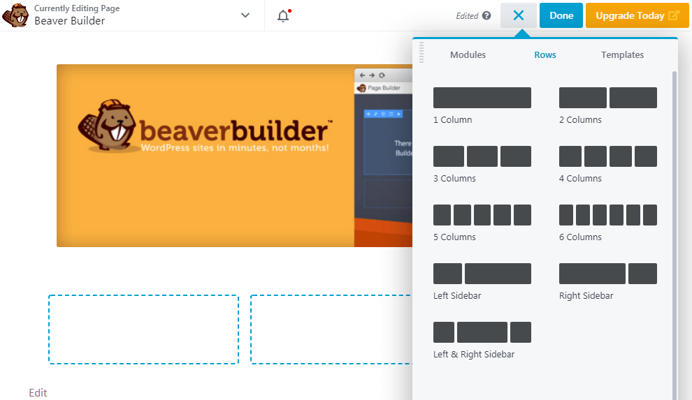 Beaver Builder layout grid
