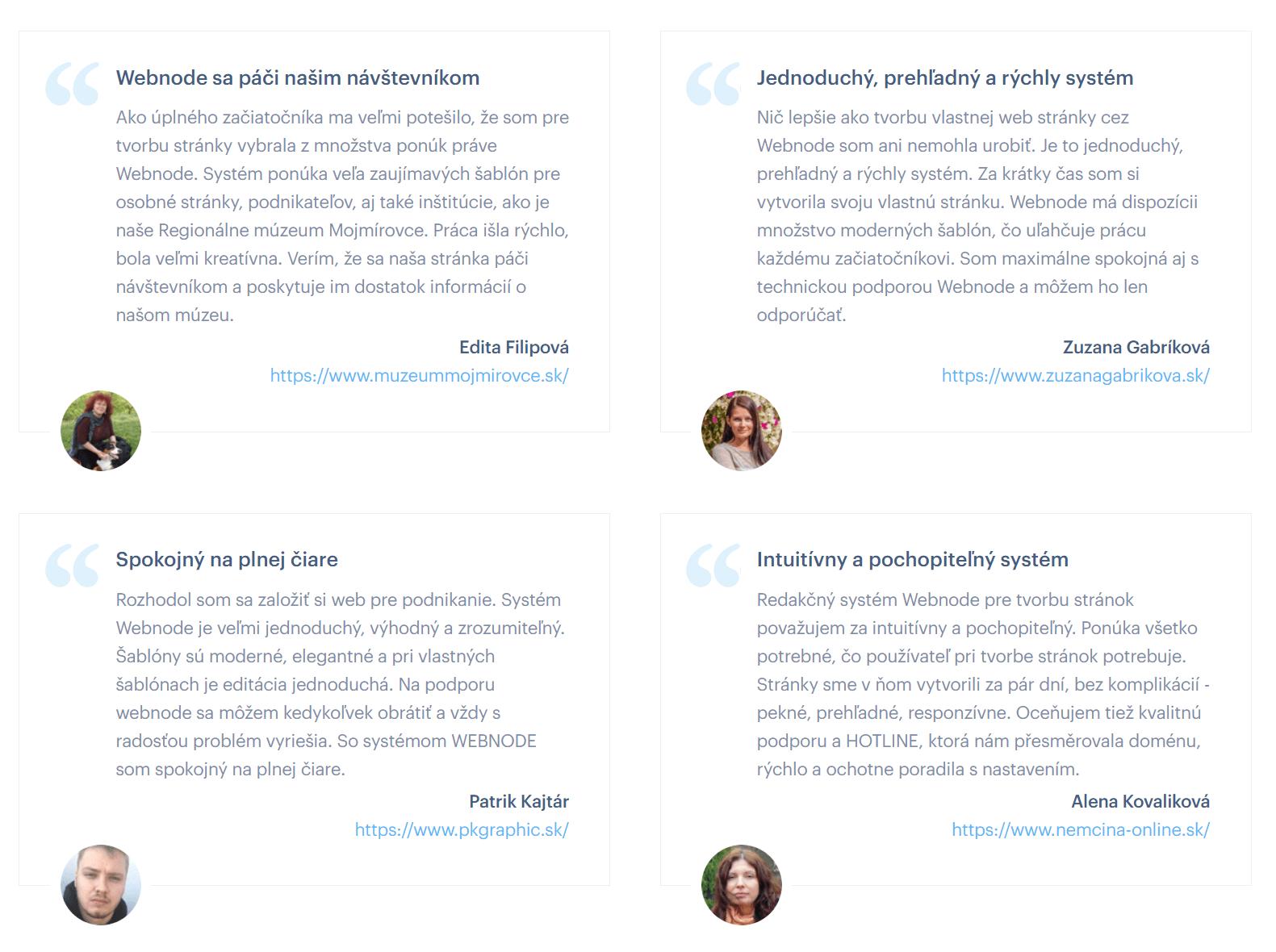 webnode - recenzie používateľov