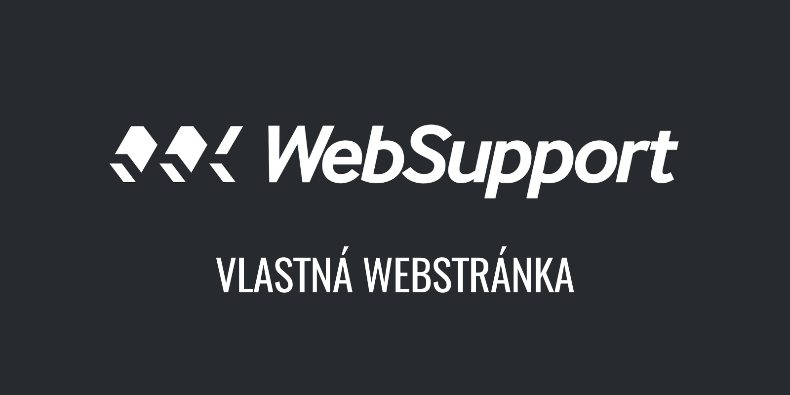 Vlastná webstránka od WebSupport - recenzia + návod