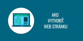 Ako si vytvoriť web stránku rýchlo, lacno a bez programovania