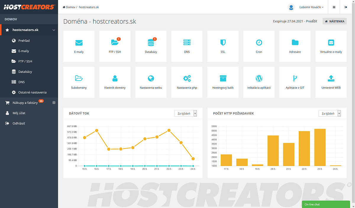 admin hostcreators