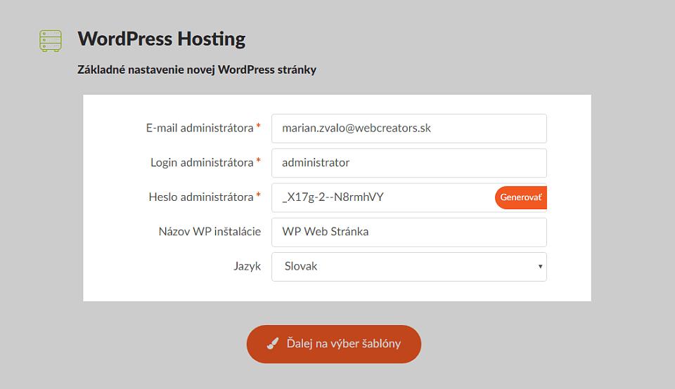 Základné nastavenia WordPress