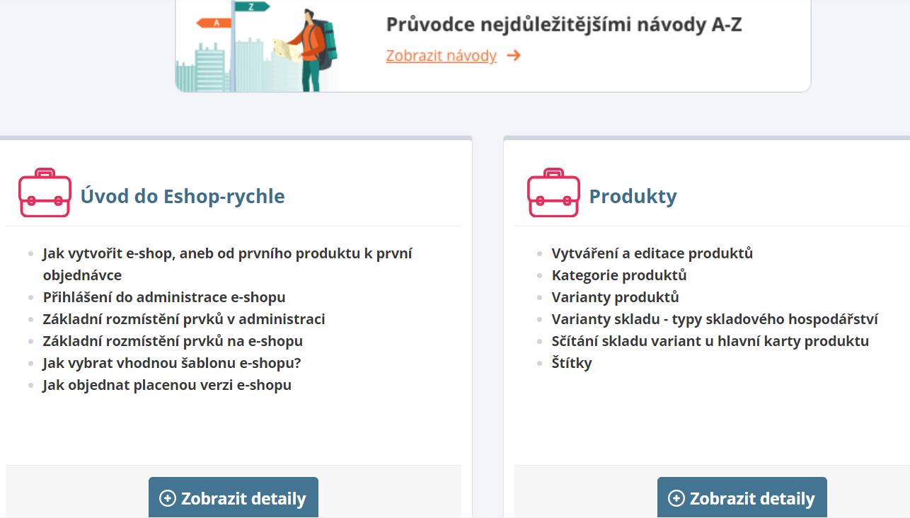 e-shop-rychlo návody