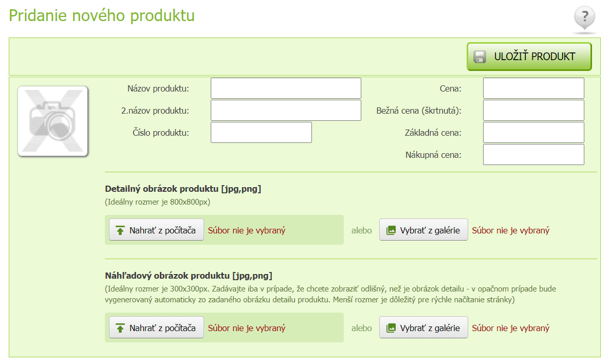 e-shop-rychlo pridanie produktu