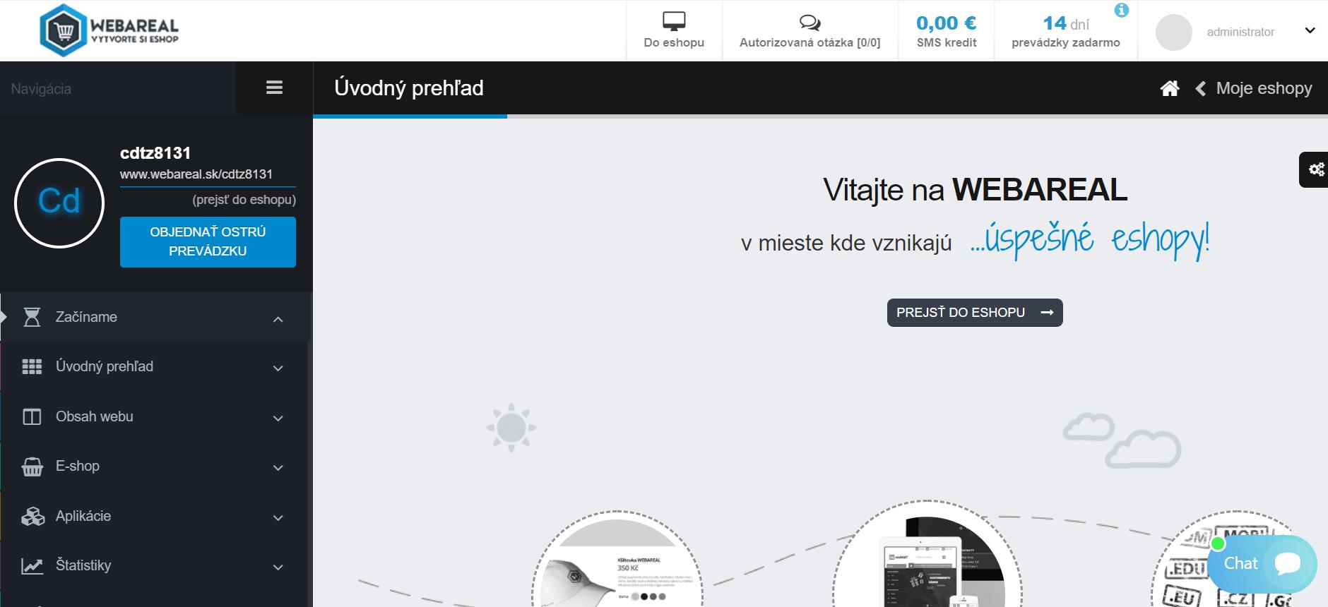 Webreal úvod do e-shopu