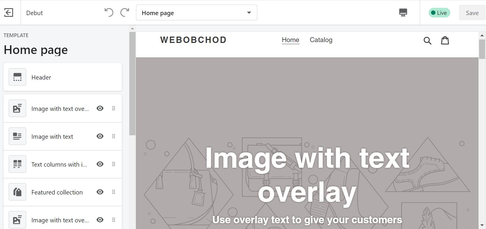 Úprava aktuálnej šablóny Shopify